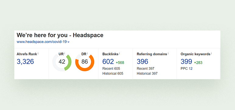 Backlinks from 396 domains for Headspace mobile app